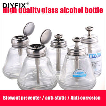 Load image into Gallery viewer, DIYFIX 150ML Press-type Glass Alcohol Bottle Anti-static Plate Washing Water Bottle Mobile Phone Repair Copper Cleaning Tool
