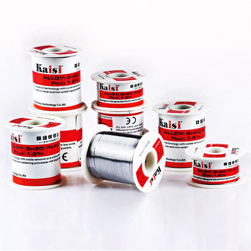 Kaisi Solder Wire Flux 1.2% Rosin Core Tin Solder Wire Sn60/Pb40 Soldering Welding Flux Tin Wire Soldering Supplies 0.3-0.8mm