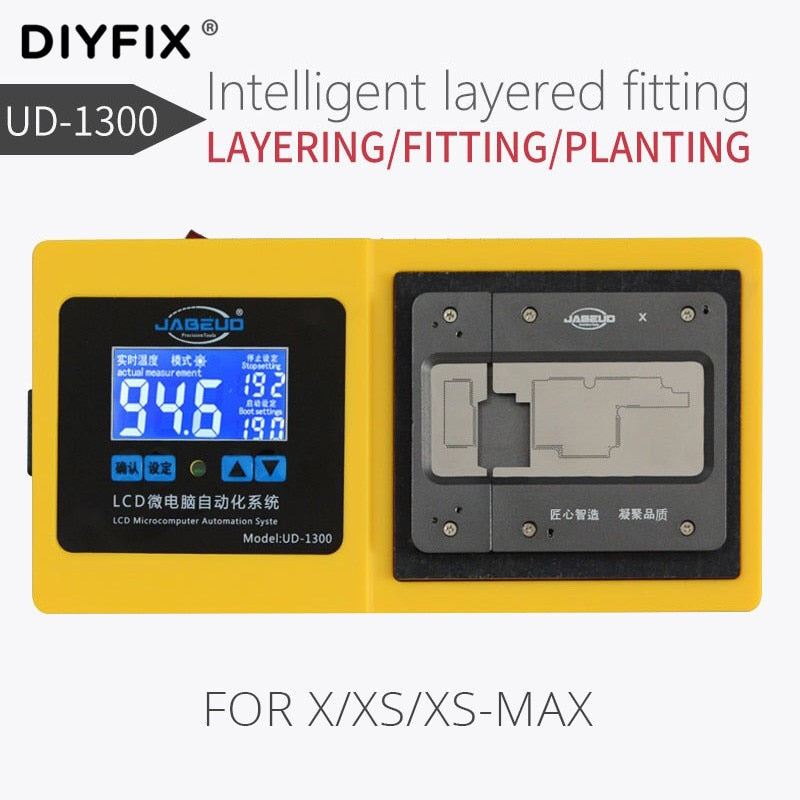 JABE UD-1300 intelligentair Gun Layer Lamination Tin Planting Integration For iPhone X XS XS Max middle tin planting