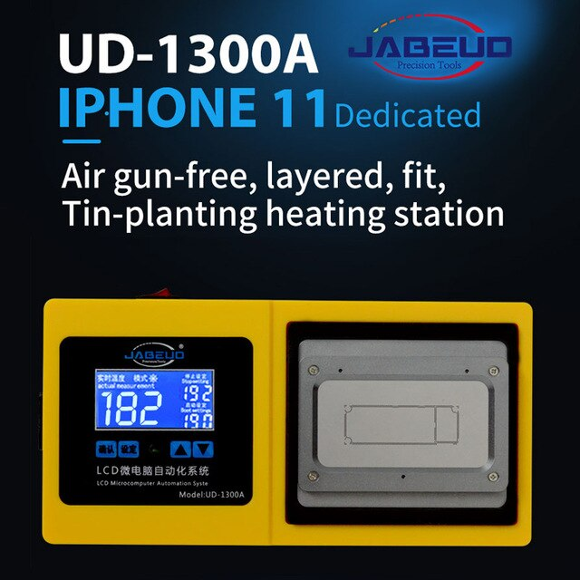 JABE UD-1300A Intelligent Air Gun-free Layered For iPhone 11/11 Pro MaxTin Planting Heating Station Lamination Integration