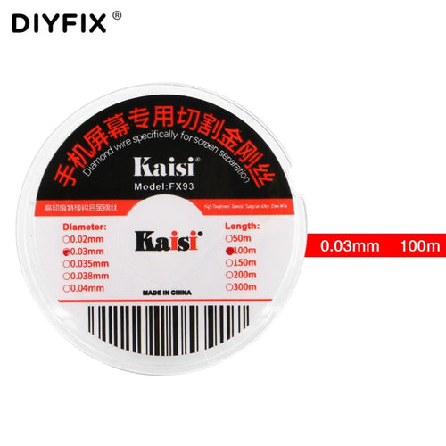 DIYFIX 0.03mm Diamond Wire Specifically For Screen Separation Cutting Line For Samsung iPhone Huawei Xiaomi Repair Tool