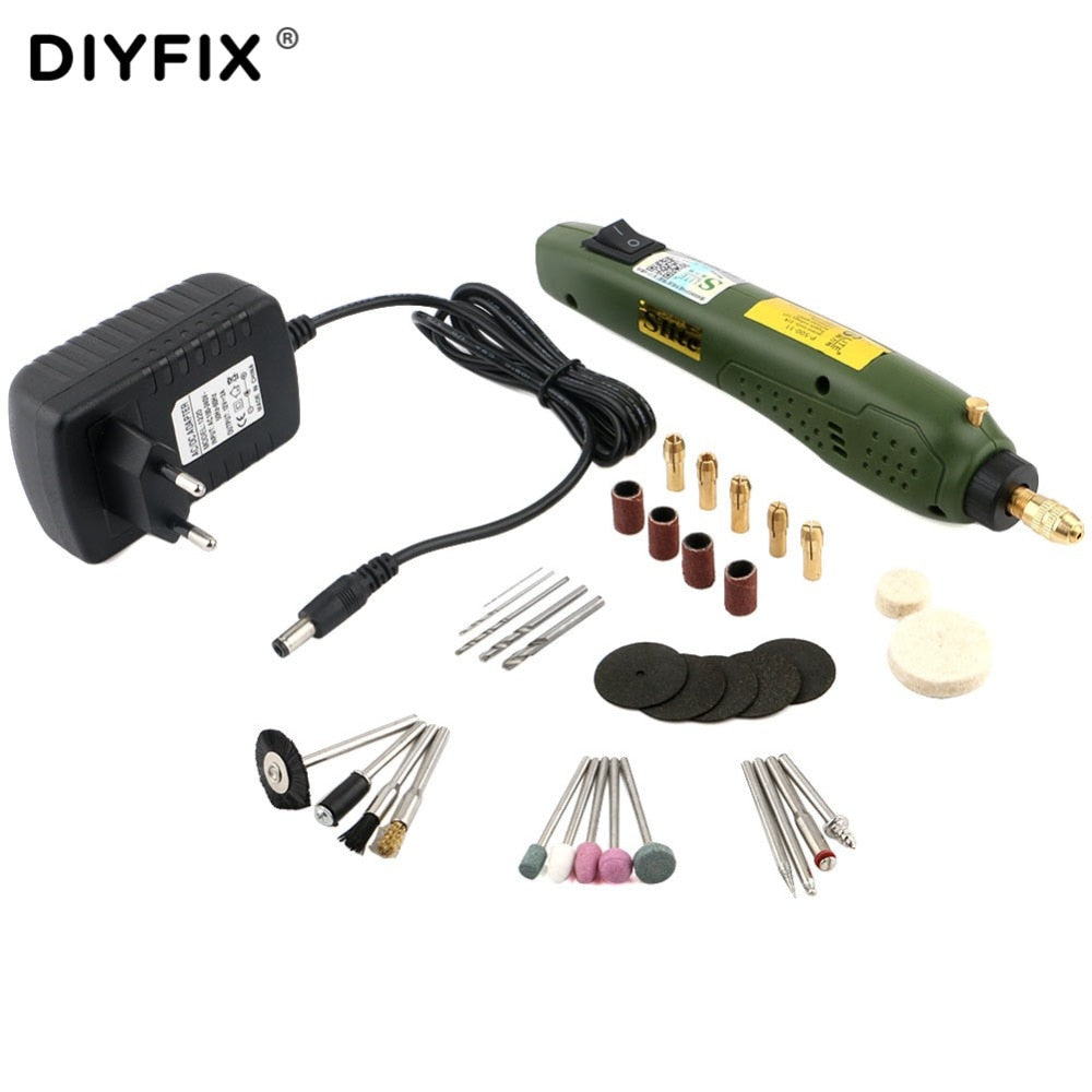 Mini Electric Drill Grinder Tools Set For Dremel Rotary Tools Grinding DIY Tool with Polishing Engraving Sharpening Accessories