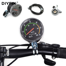 Load image into Gallery viewer, DIYFIX Round Mechanical Stopwatch Universal Waterproof Mltifunction Mechanical Odometer For Bicycle Bike Cycling Equipment