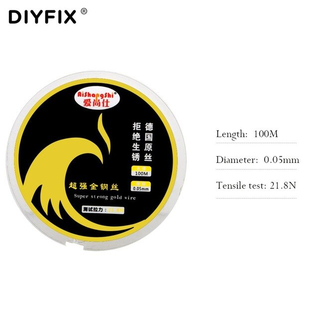 DIYFIX 0.04-0.08mm LCD Screen Separation Wire 100m Cutting Line Diamond Wire for iPhone Samsung Mobile Phone  Repair Hand Tools