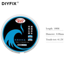 Load image into Gallery viewer, DIYFIX 0.04-0.08mm LCD Screen Separation Wire 100m Cutting Line Diamond Wire for iPhone Samsung Mobile Phone  Repair Hand Tools