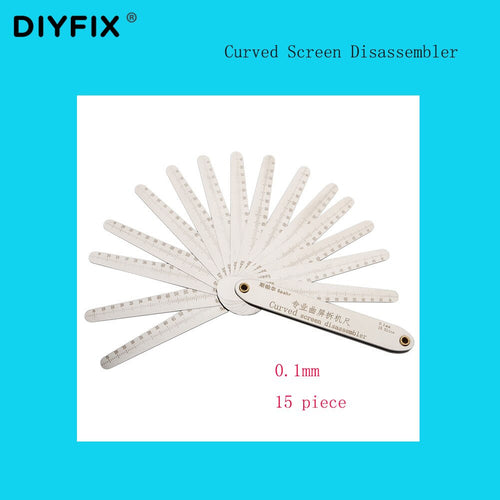 Spahr Curved Screen Disassembly Machine Stainless Steel High Precision Thickness 0.1mm-15 piece Mobile Phone Repair Ruler Tool