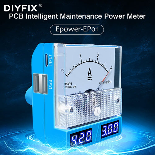 Epower-EP01 PCB Intelligent Maintenance Power Meter For iOS/Android Mobile Phone Repair DC Power Bank Supply With 4 USB Ports
