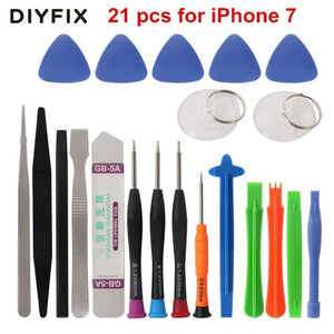 DIYFIX 45 in 1 Mobile Phone Repair Tool Screwdriver Kit for iPhone iPad xiaomi Pry Opening Tablet PC Small Toys Hand Tools Sets