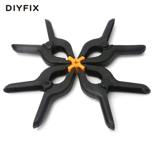 DIYFIX 4Pcs 6 inch Plastic Nylon Spring Clamps A-type Fastening Clip for Paper Photo Backdrop Background Woodworking Craft Tool