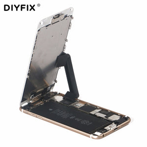 DIYFIX 2Pcs Adjustable Phone Stand Holder LCD Screen Fastening Clamp Clips for iPhone 8 7 6s 6 Plus Repair Work Tools