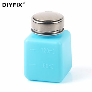 DIYFIX 120ML Empty Liquid Alcohol Press Bottle Glue Residue Remover Clean Tool Portable Dispenser Pump Bottle