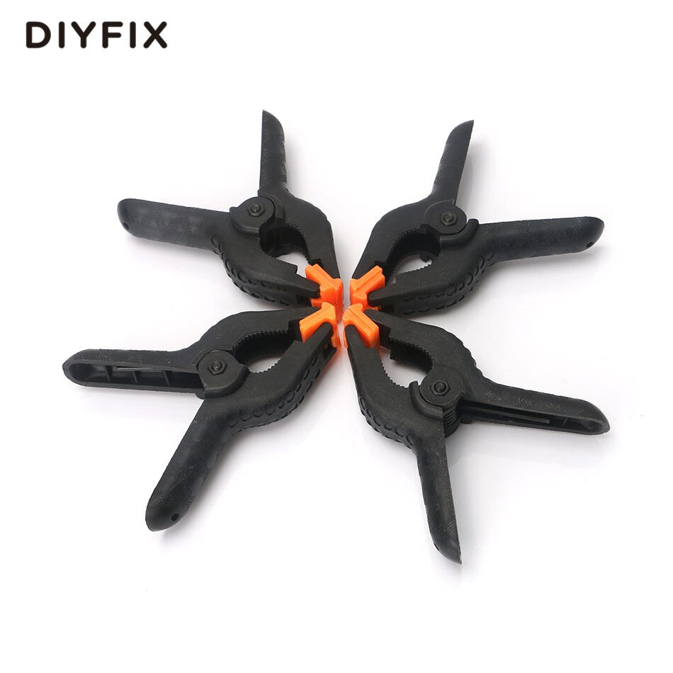 DIYFIX 4Pcs 110mm 4.3inch A-type Plastic Nylon Adjustable Clamps Spring Clip for Paper Photo Backdrop Background Woodworking