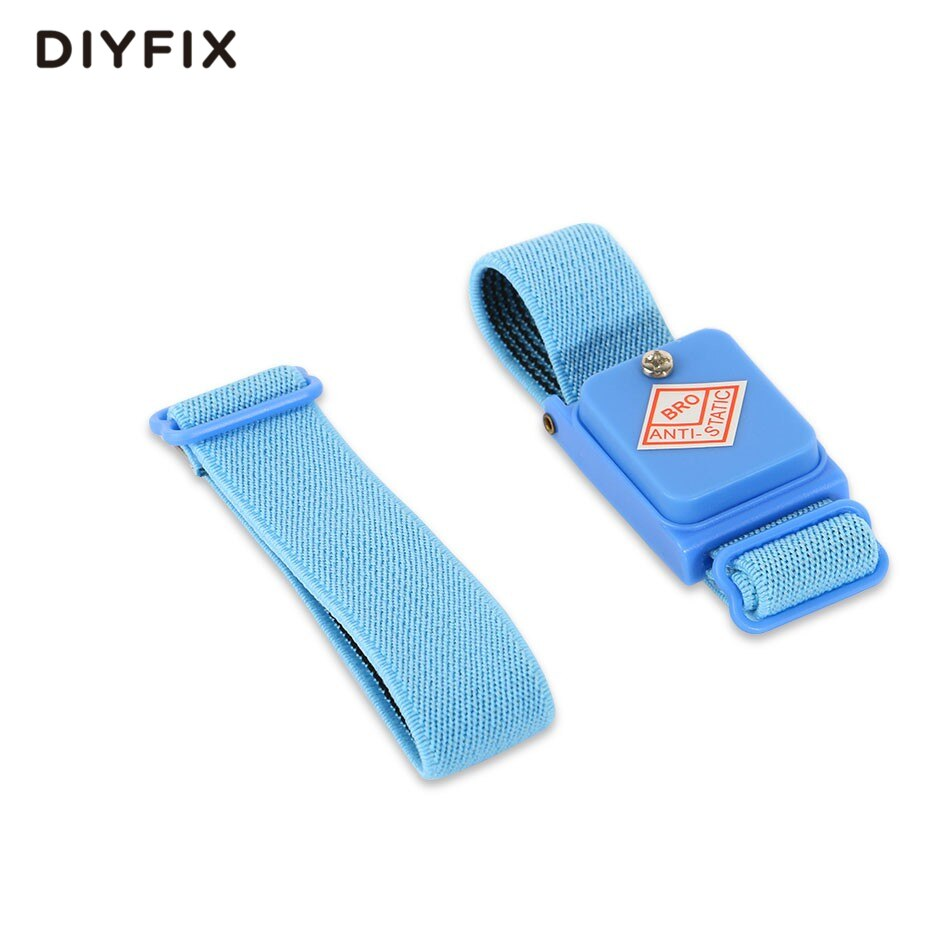 DIYFIX Anti-static Cordless Wrist Strap Elastic Band with Spare Extend Band for Sensitive Electronics Repair Tools