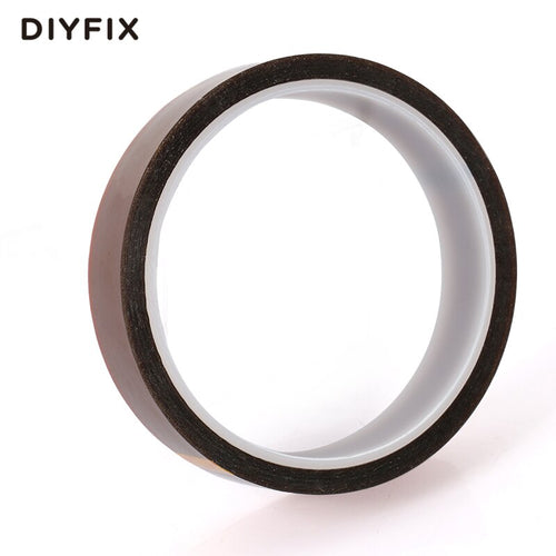 DIYFIX 20MM x 33Meter Heat Resistant High Temperature Polyimide Adhesive Tape Insulation Tape for BGA Electronic Industry