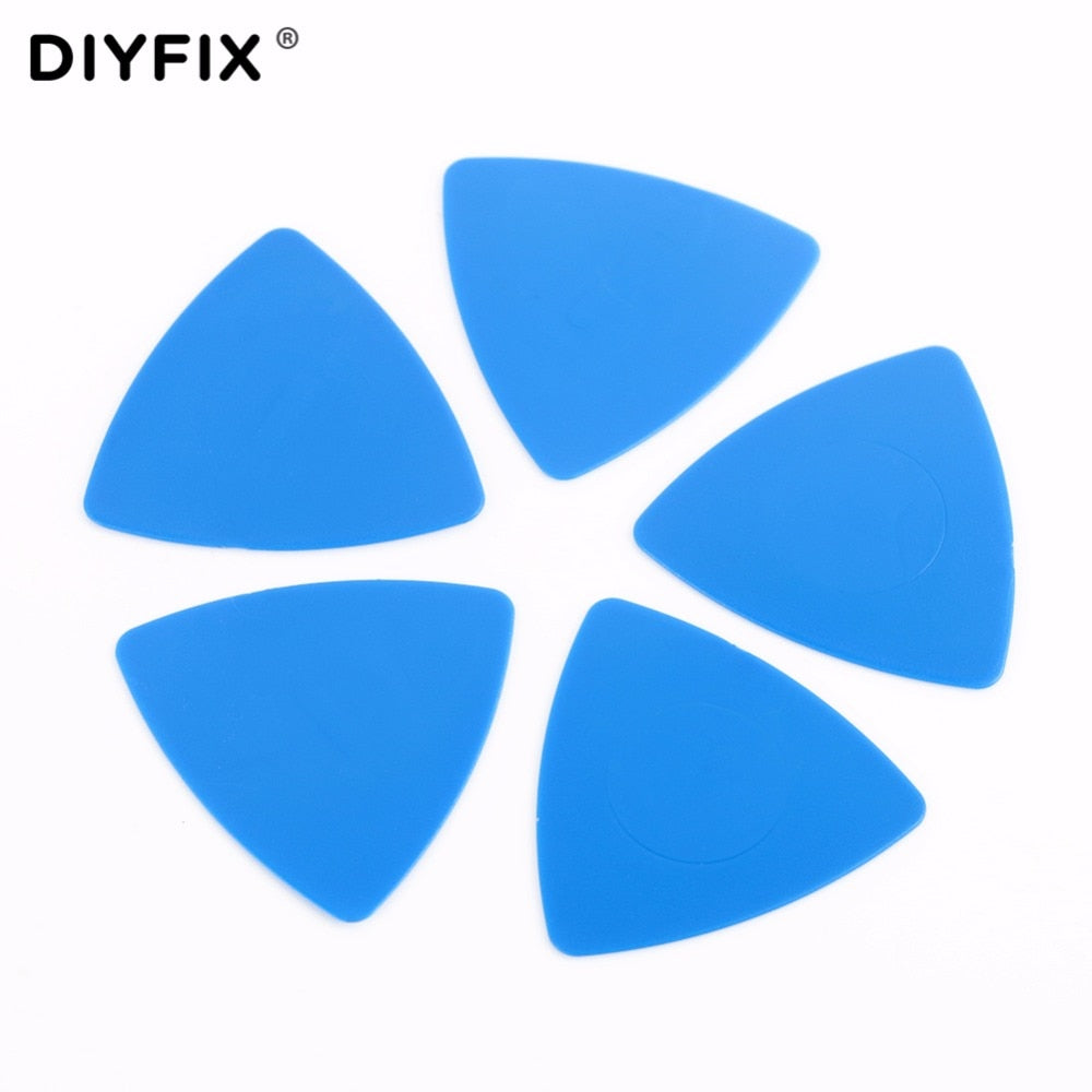 DIYFIX 5Pcs Cell Phone Opening Tools Thin Plastic Guitar Pick Pry Opener for iPhone Samsung Disassemble Repair Tool