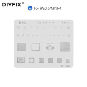 DIYFIX Phone Logic Board Repair Tool for iPhone X 8 8 Plus for iPad Motherboard IC Chip Ball Soldering Net Stainless Steel Plate