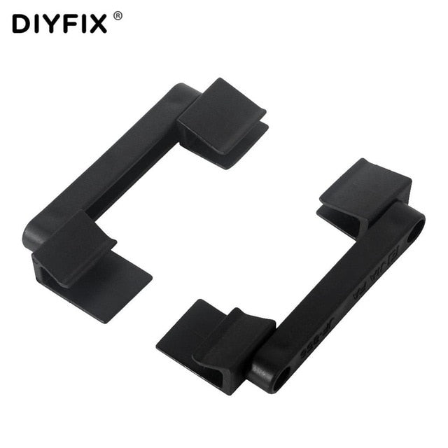 DIYFIX 2Pcs 360 Rotation Universal Phone Repair Stand Holder Mobile LCD Screen Fastening Fixture Clamp Clip for iPhone iPad Tool