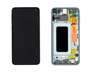 Glass Screen OLED Assembly Replacement With Frame for Galaxy S10e (SM-G970F)