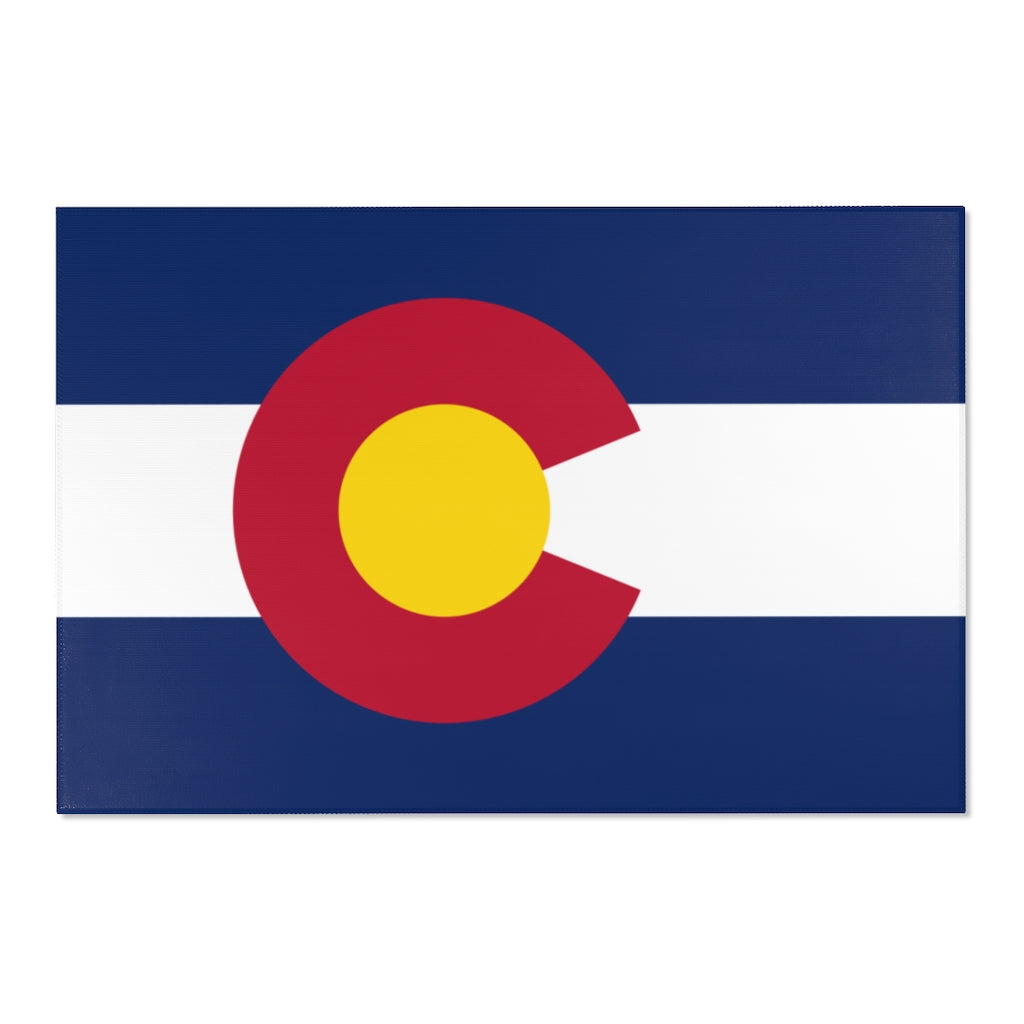 Colorado Flag Area Rugs