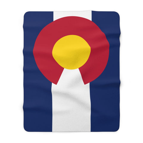 Colorado Flag Sherpa Fleece Blanket