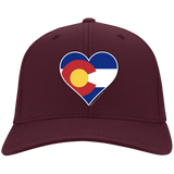 Heart Colorado Logo C813 Flex Fit Twill Baseball Cap