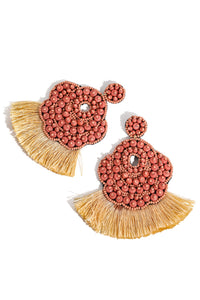 Intricate Beaded Fring Earrings