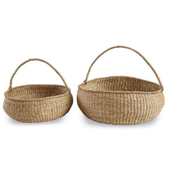 BIG ROUND SEA GRASS BASKET