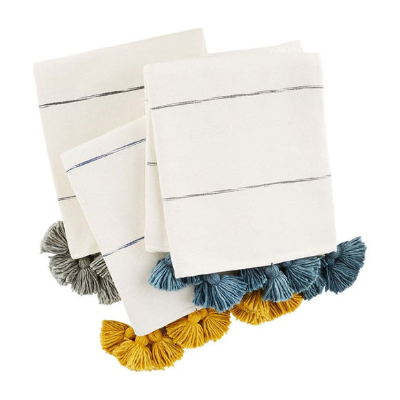 TASSEL STRIPE THROWS