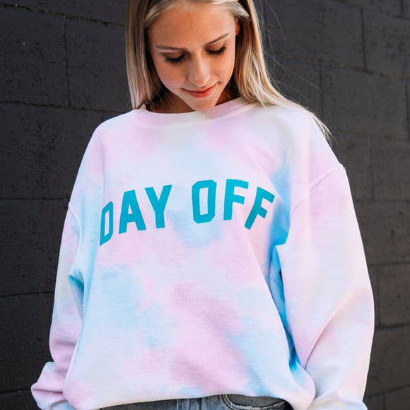 Day Off Teal Corded Sweatshirt