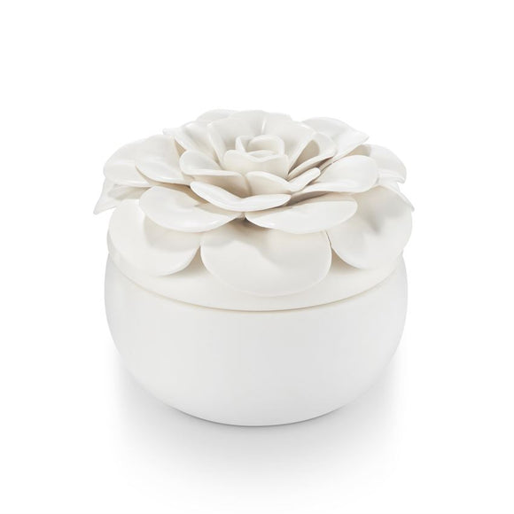Ceramic Flower Candle Gardenia