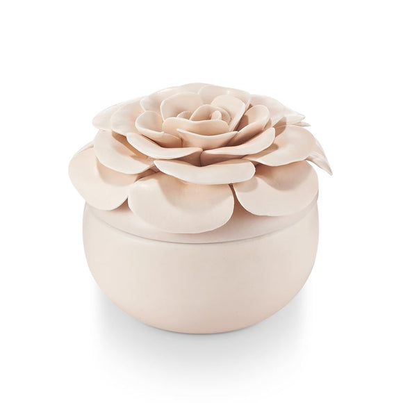 Ceramic Flower Candle Coconut Milk Mango