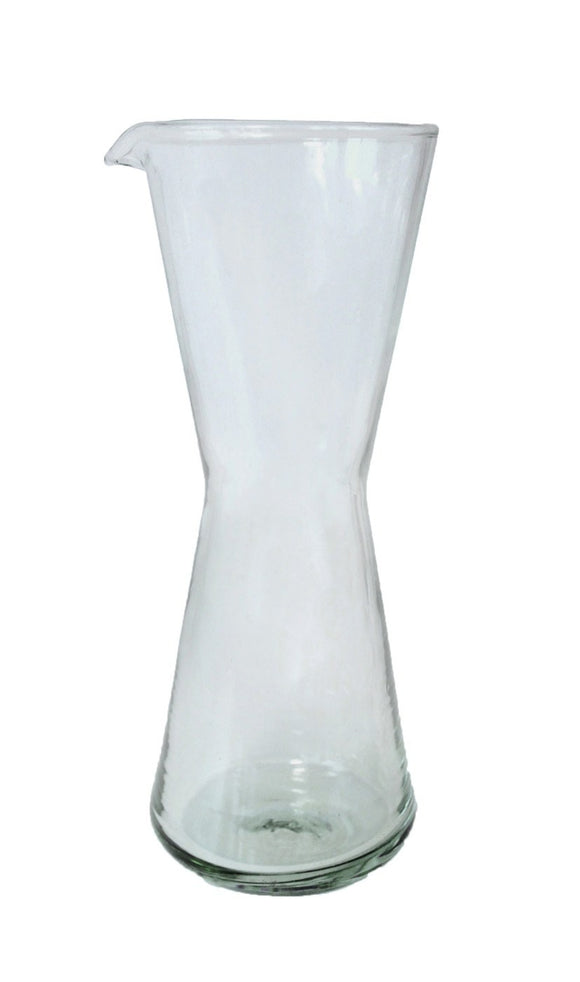 Recycled Glass Hourglass Carafe