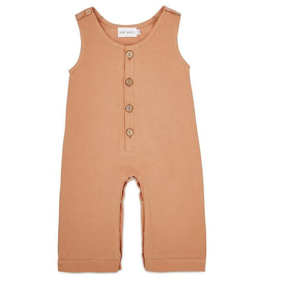 Honey Linen Baby Romper