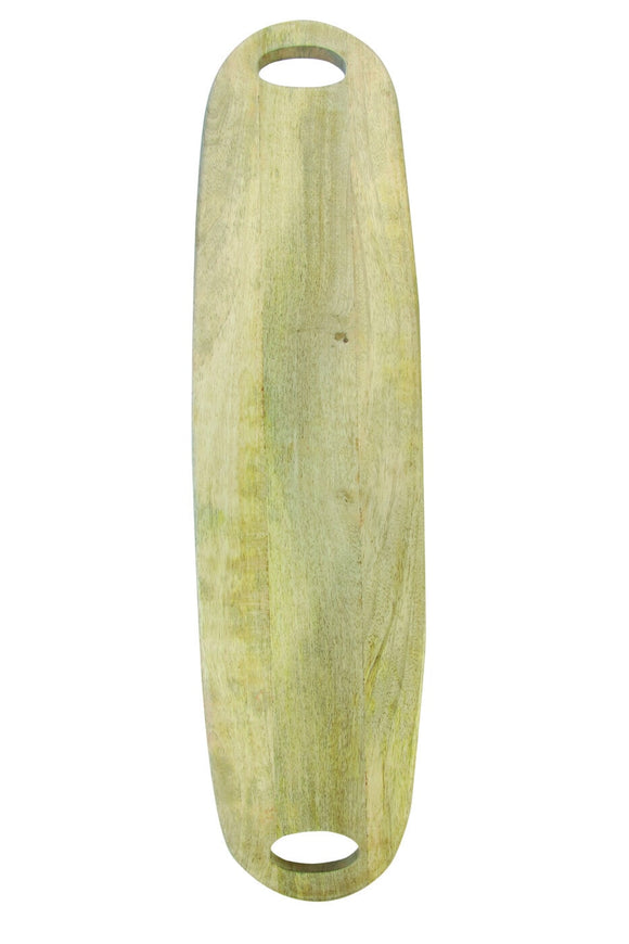 Natural Mango Wood Long Oval Board with Handles