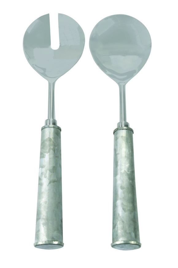 GALVANIZED IRON & Stainless Serving Set