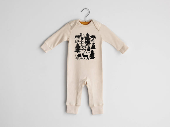 Gladfolk - Christmas Cheer Organic Baby Romper in Natural