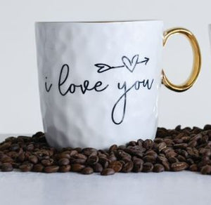 I love you decorative stoneware mug