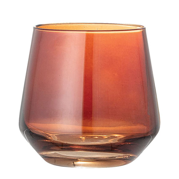 Amber color drinking glass