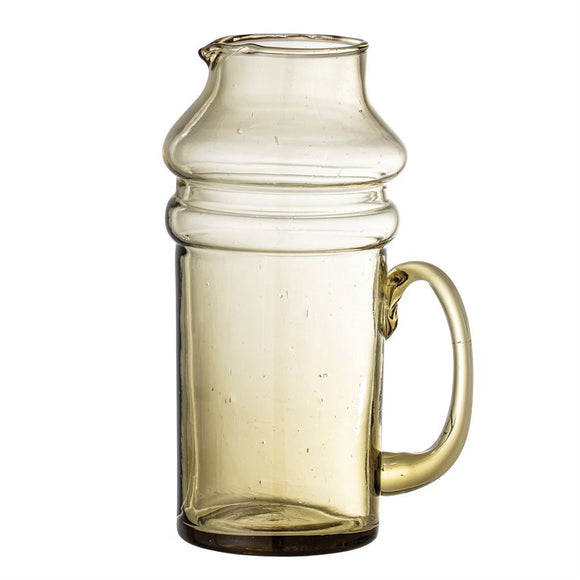 Olive Recycled Glass Pitcher