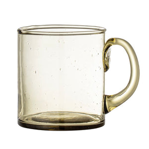Olive Colored Recycled Glass Mug