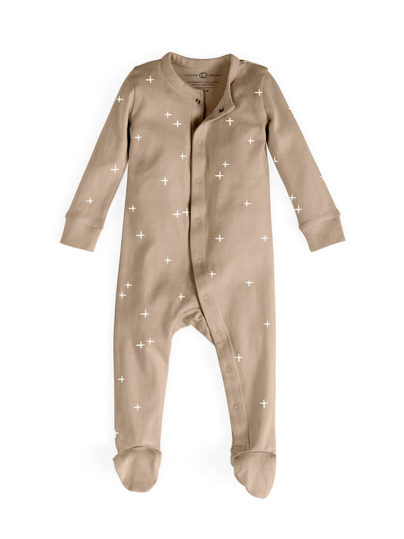 Colored Organics - Preorder Skylar Footed Sleeper - Clay Plus Print
