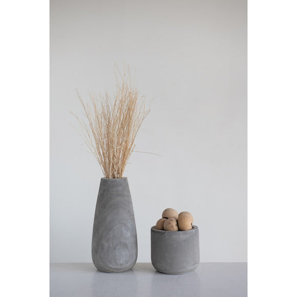 Paulownia Wood Planter, Grey Wash
