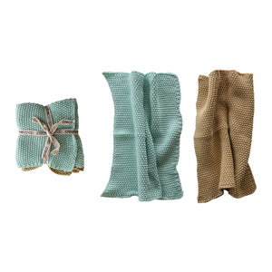 Square Cotton Knit Dish Cloths