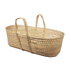 Palm Leaf Hand-Woven Moses Basket - Large