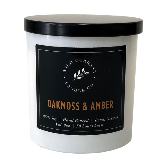Wild Currant Candle Company Oakmoss + Amber