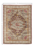 Multicolor Printed Cotton Rug (SHIPPING ONLY)