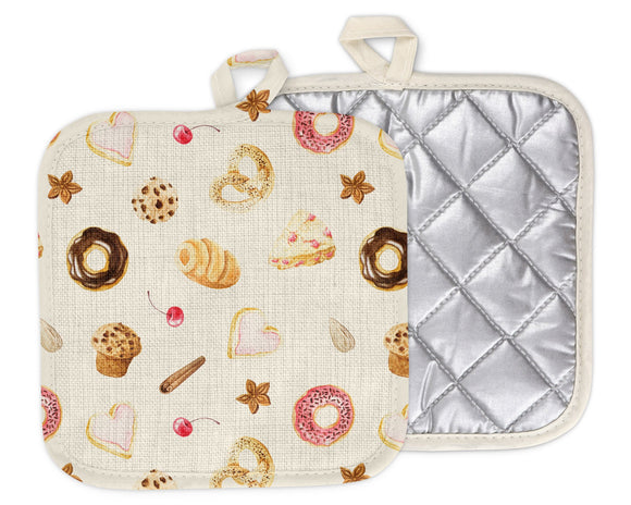 Doughnut Muffin Pretzel Cookie Sweet Pot Holder | Housewarming Gift