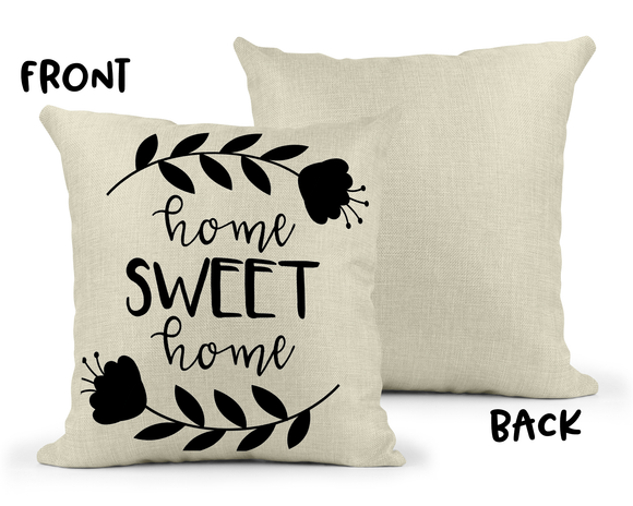 Home Sweet Home Linen Pillow