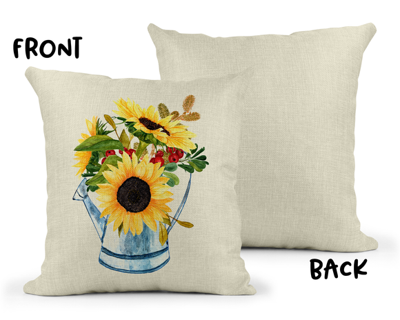 Sunflower Linen Pillow