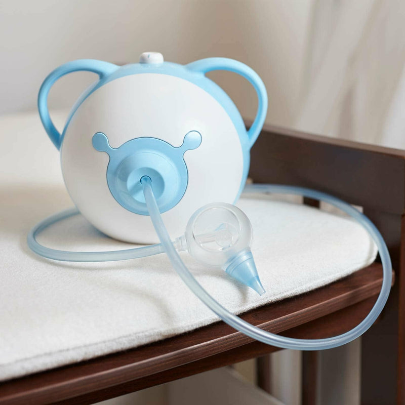 Nosiboo Babycare Nasal Aspirator - Blue - Electric - 230V, UK Power Cord